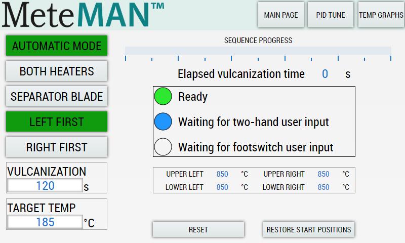 MeteMAN user interface designed by Metecno.