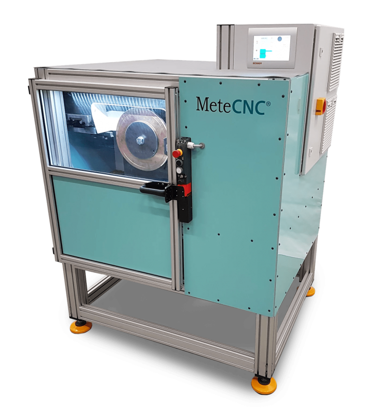 MeteCNC customised CNC machines - welding disc lathe.