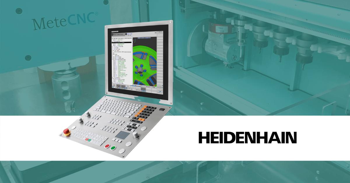 Heidenhainin CNC-ohjaukset MeteCNC-koneisiin.